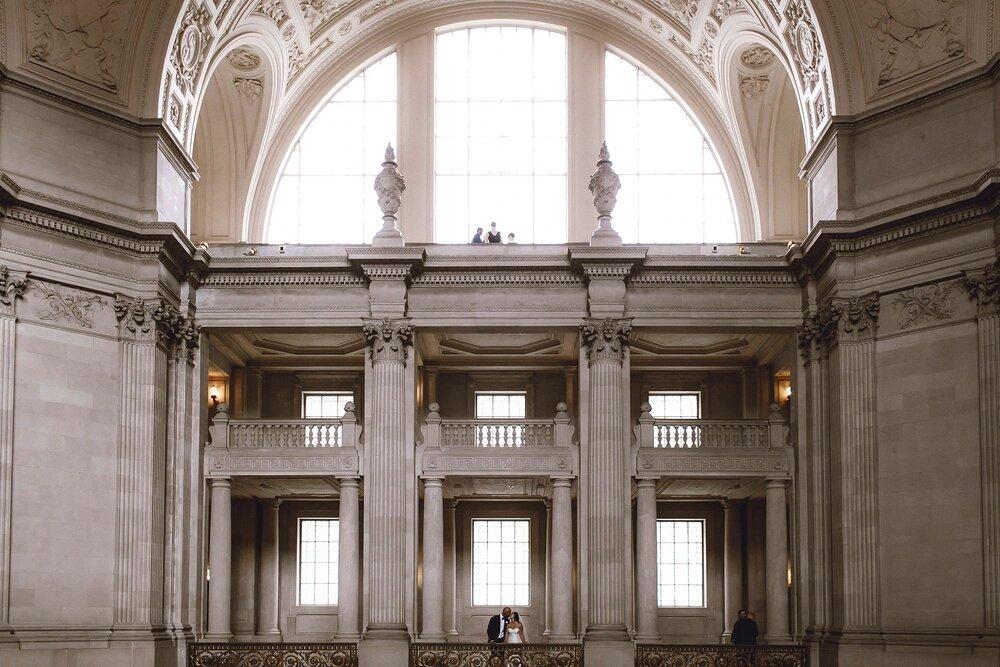 Wedding portrait at San Francisco City Hall