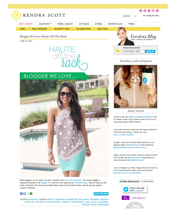 Kendra Scott Blog Feature