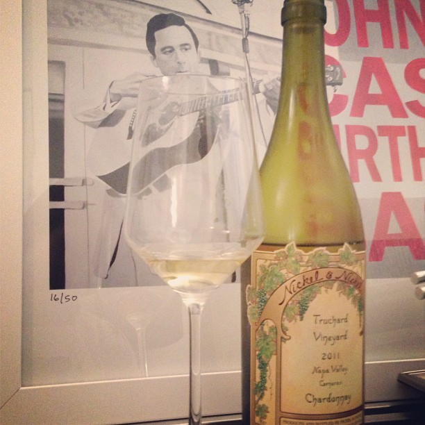 #Uncorkd a @nickelandnickelwinery Chardonnay. Goes nicely with some Johnny Cash.