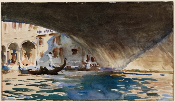 John Singer Sargent, Venice: Under the Rialto Bridge, 1909.