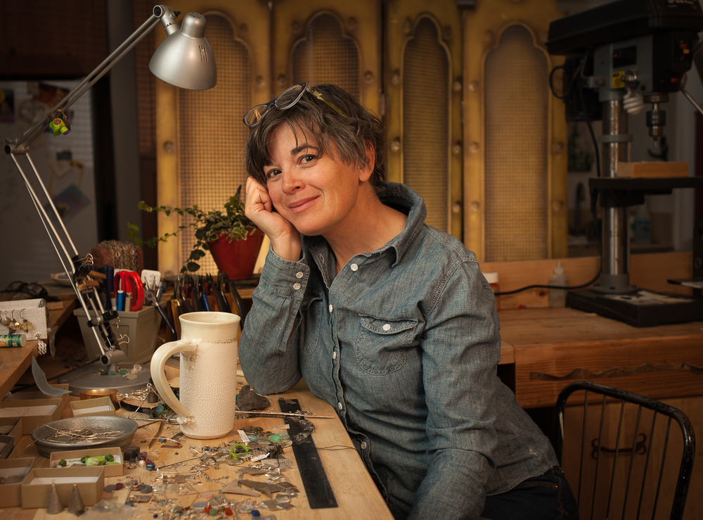 Mary Guerra in her studio at home.
