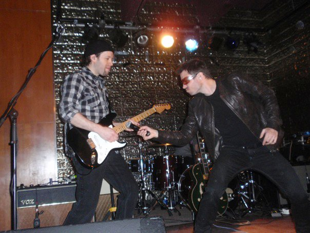 Kevin Strom (The Edge) and Shawn Brady (Bono) of Elevation Canada