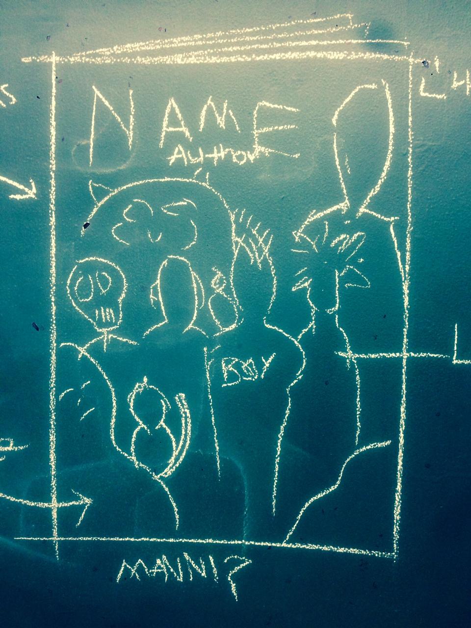 Chalk sketch