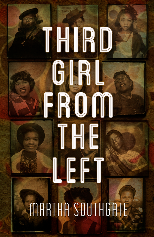 the pictures in the background depict three generations of women using photo booth shots. The modern font hinted toward the documentary take on storytelling.