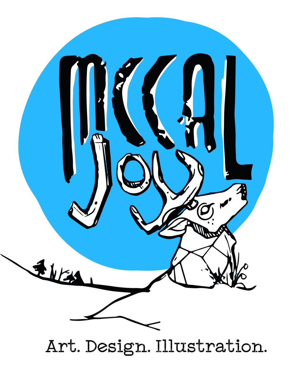 McCal Joy Logo - and finally came time to finally revise my own logo from the old ink smeared wood block scan that it once was, by incorporating some nature and illustrative touch while retaining the rustic charm of the old letters.