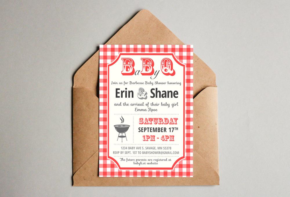 BBQ Baby Shower Invites