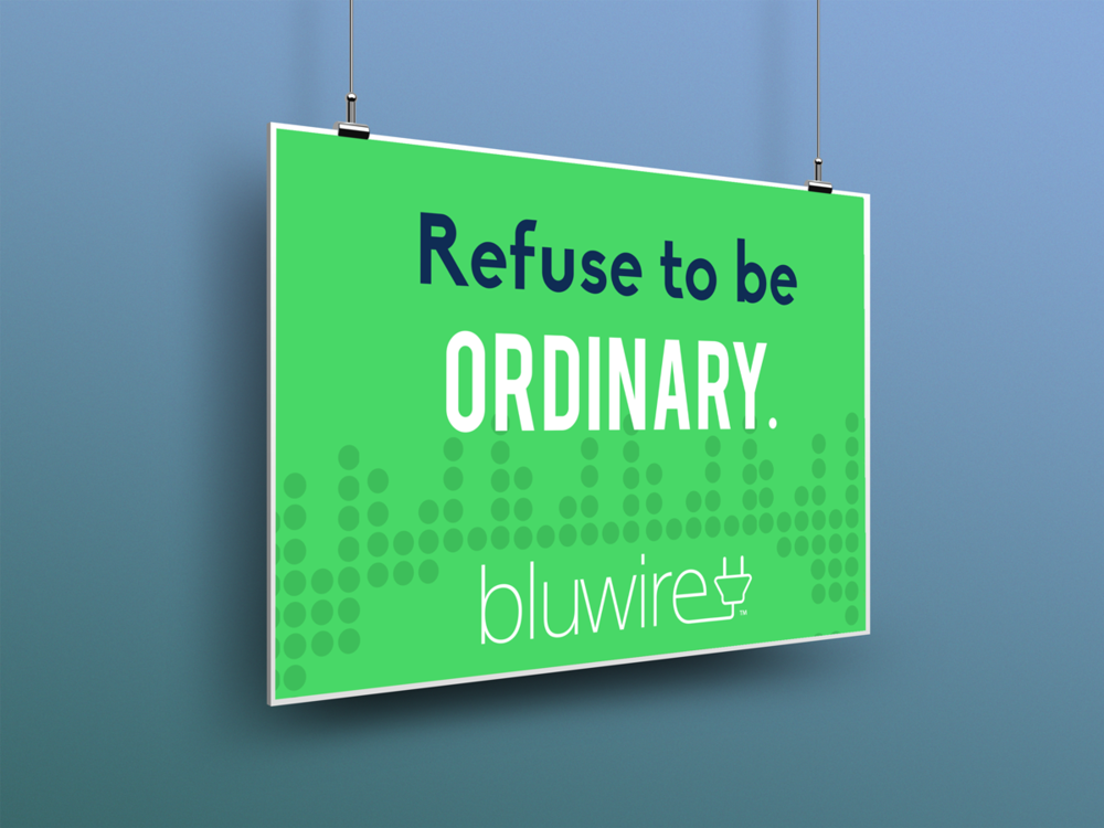 Bluwire Store Signage