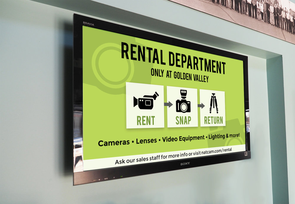 Store Digital Signage - The icons provide a bold, versatile look that can be featured both in print and digitally.