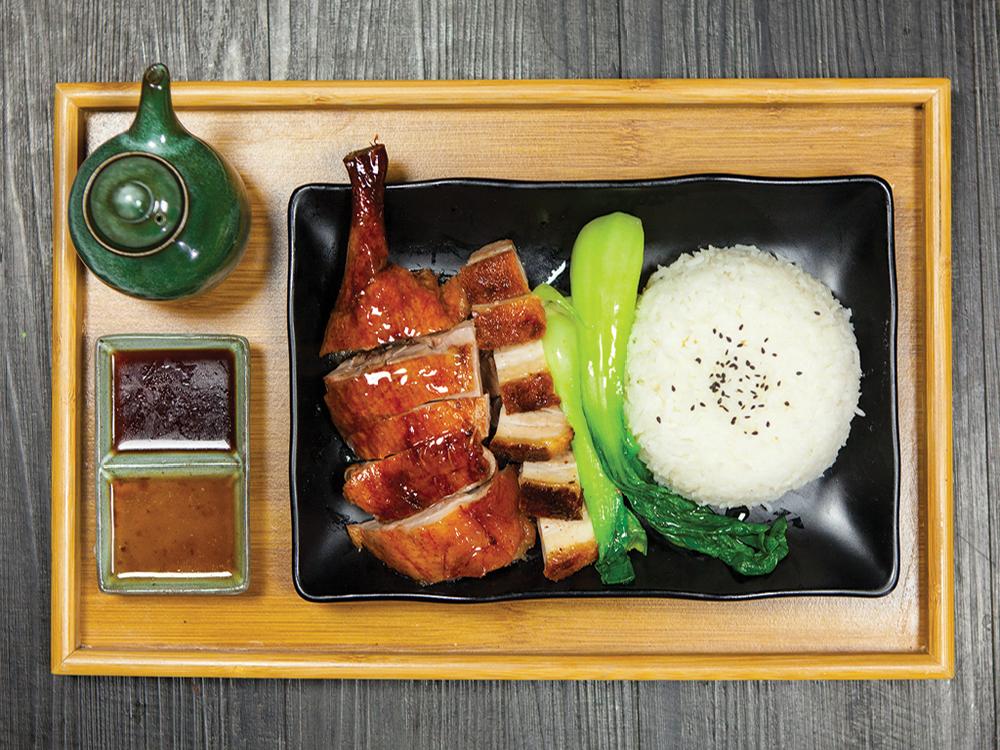 Asian Roast on Rice  明爐燒味
