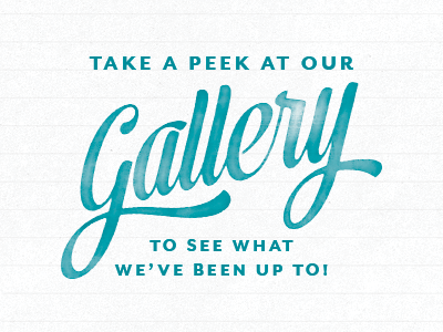 Take a peek at our gallery to view our latest projects, products & classes.