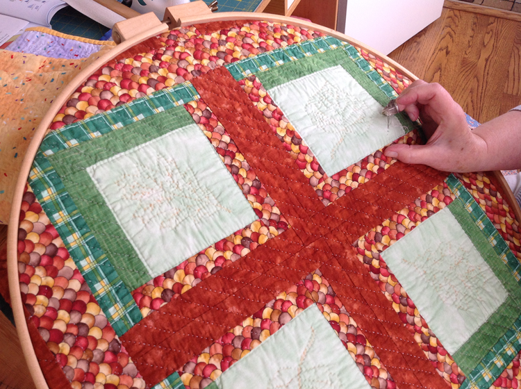 Hand Quilting 3 Of 3 Quilted Angel