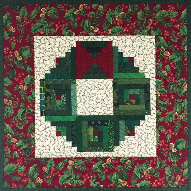 Christmas Log Cabin Wreath Foundation Paper Pieced 2 Of 2