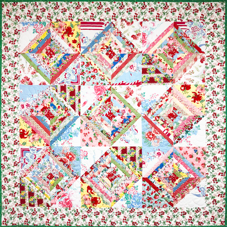 Foundation Pieced Quilt by Quilted Angel