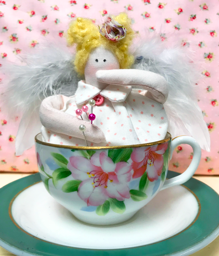 Teacup Fairy Pincushion