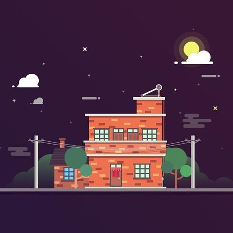 Love this night illustration #dribbble