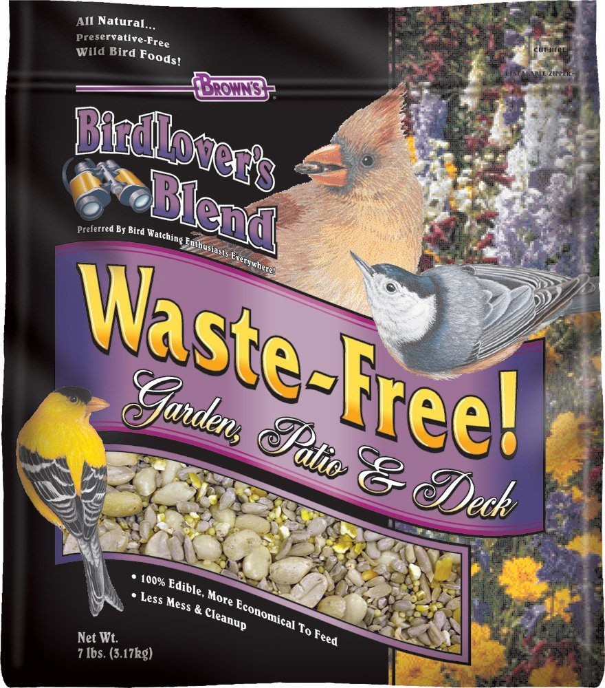 Brown's Bird Lover's Blend Waste Free Garden, Patio, and Deck