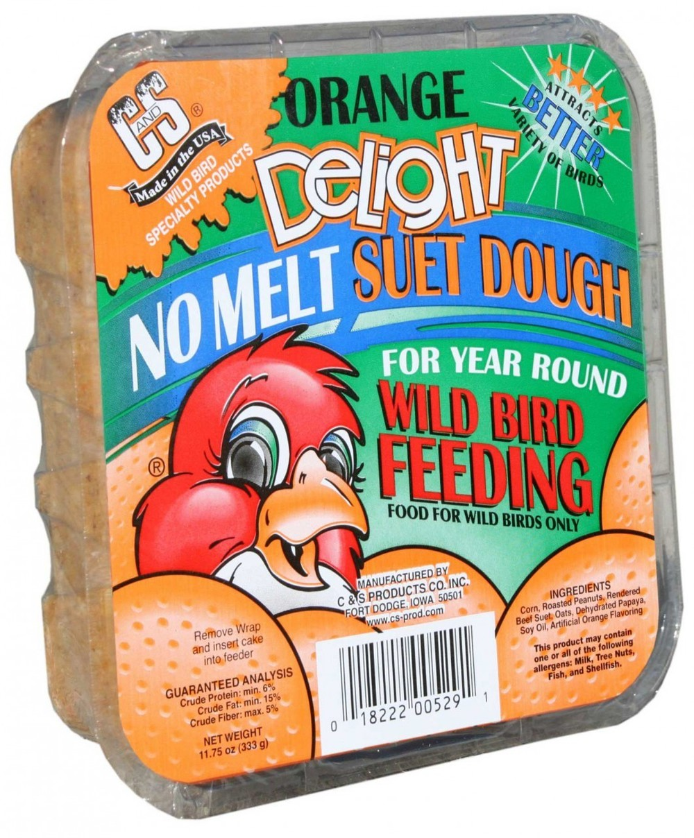 C and S Delight Orange No Melt Suet Dough