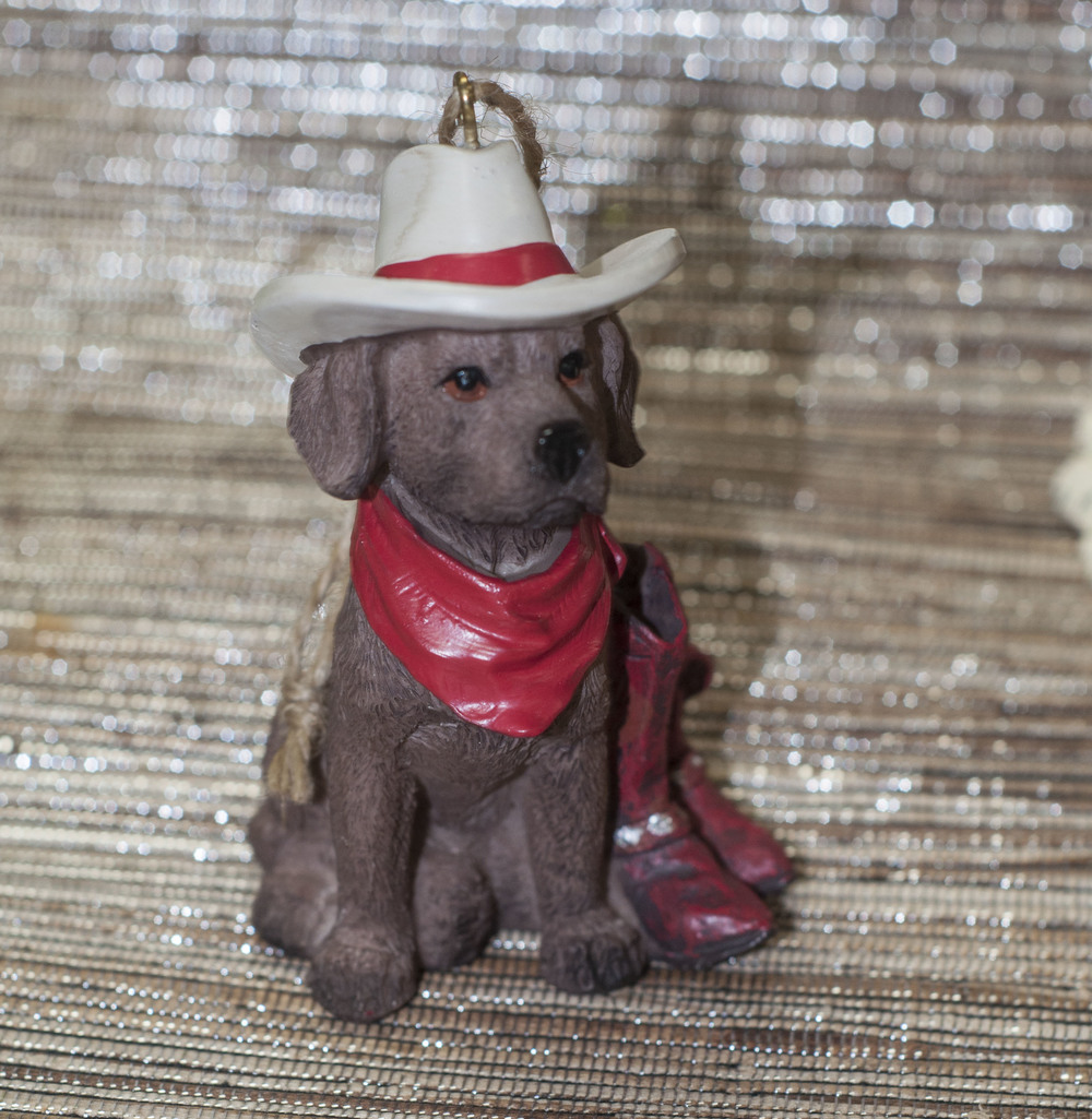 chocolate lab cowboy ornament.jpg