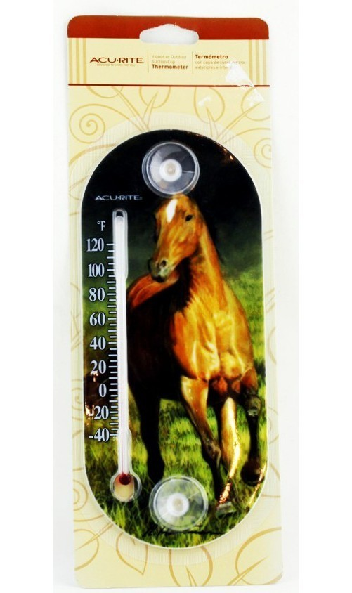 Horse Print Thermometer