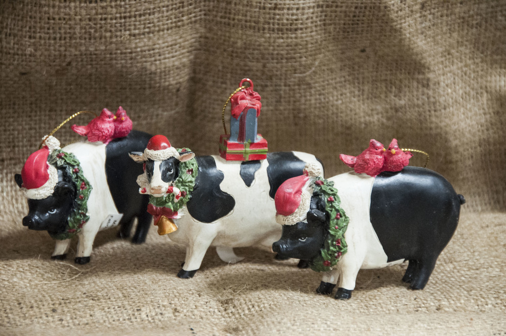 Christmas Farm Animal Ornaments