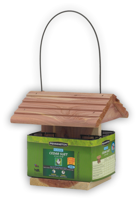 Cedar Suet Bird Feeder