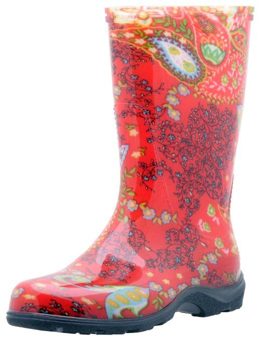Red Paisley SLOGGER Boot