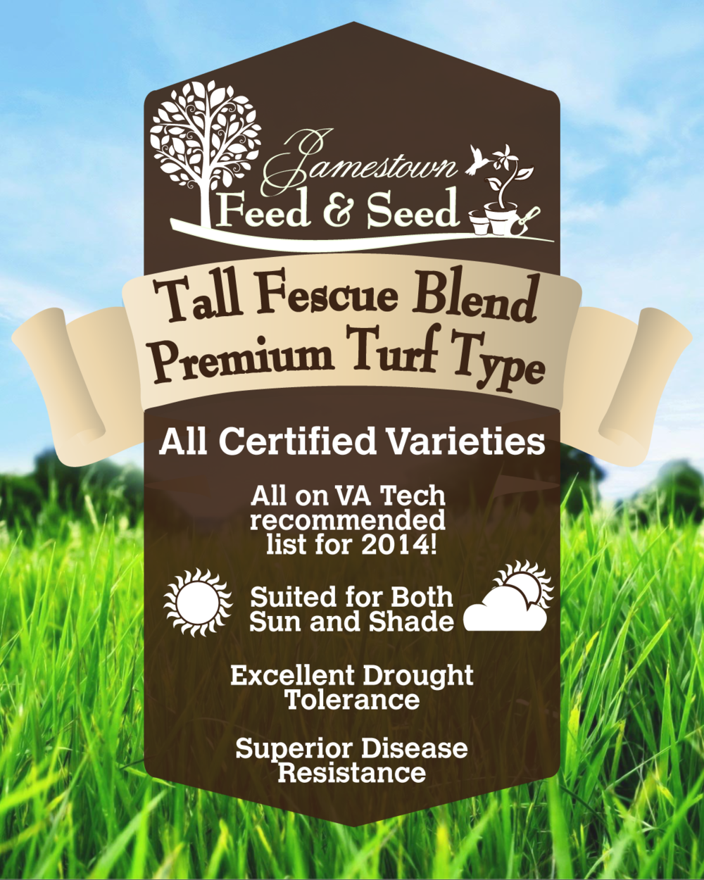 jfs grass seed label