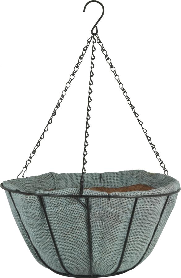 14″ Jute AquaSav™ Hanging Basket Willow Gray.png