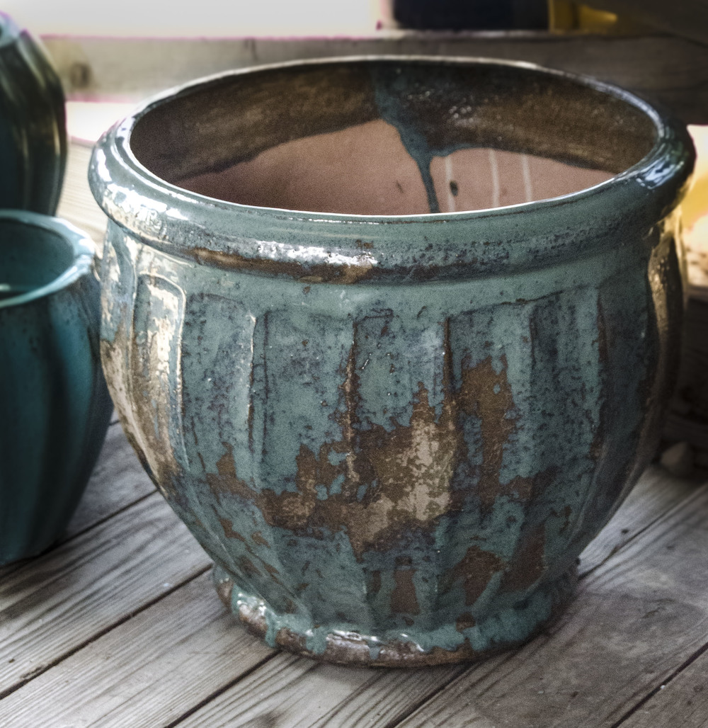 teal and brown short fired pottery.jpg