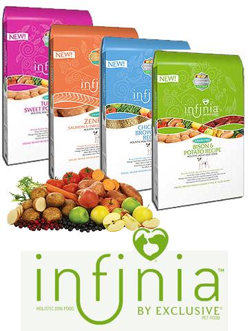 Infinia dog food