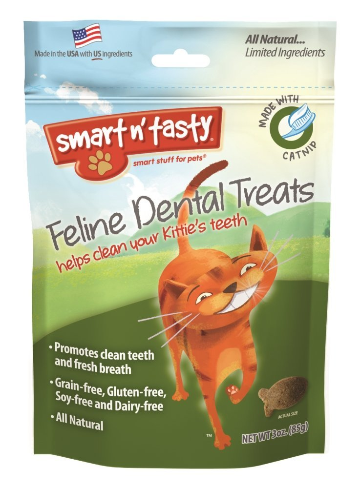 Smart n' Tasty Catnip Dental Grain Free Treats.jpg