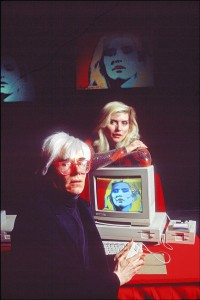 Andy Warhol with Debbie Harry at the 1985 Amiga Launch at Lincoln Center. Fascinating article on  computerhistory.org
