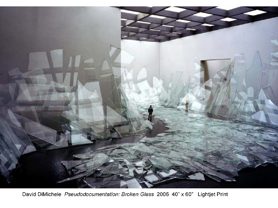 DavidDiMichele. Pseudodocumentation, Broken Glass. 2006.jpg