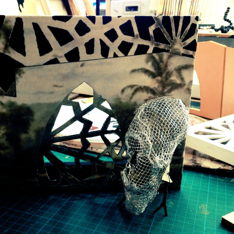 My Crocodile Mask maquette makes another entrance. I have to work this in somewhere...