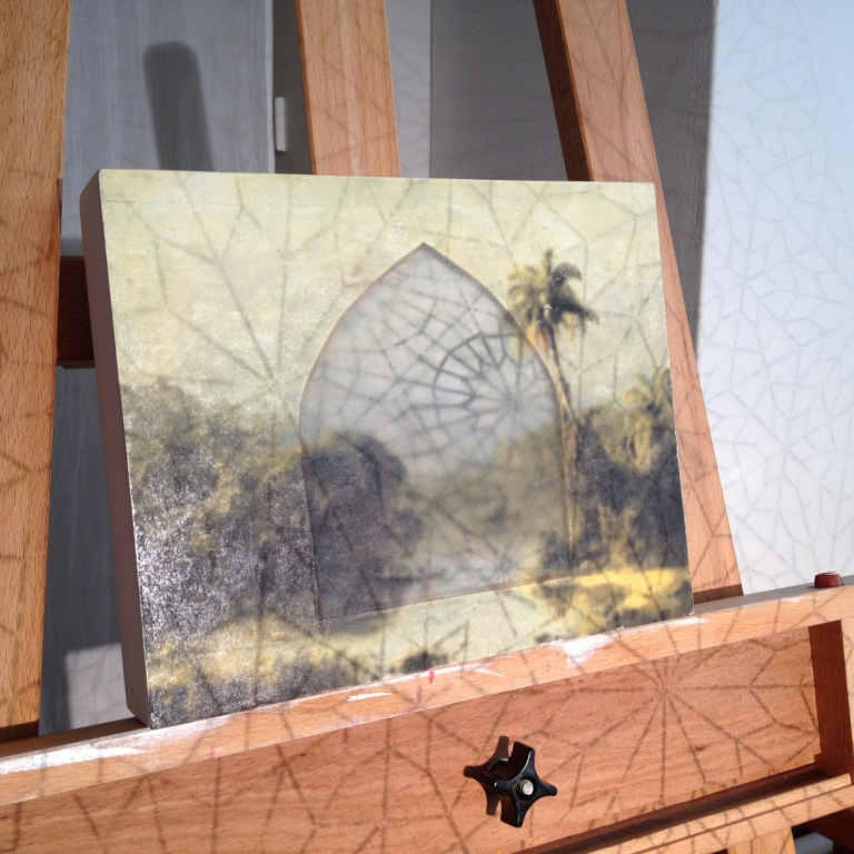 "Landscape: Homage toMartin Johnson Heade ""Sunrise in Nicaragua"" 1869"