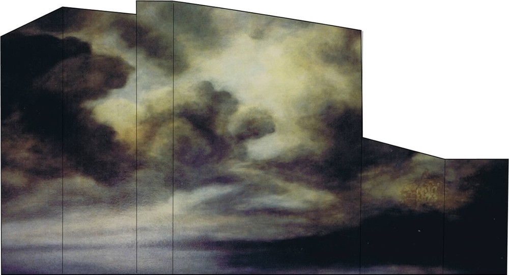 My homage to Von Ruisdael, oil on canvas, photo-shopped into my building.