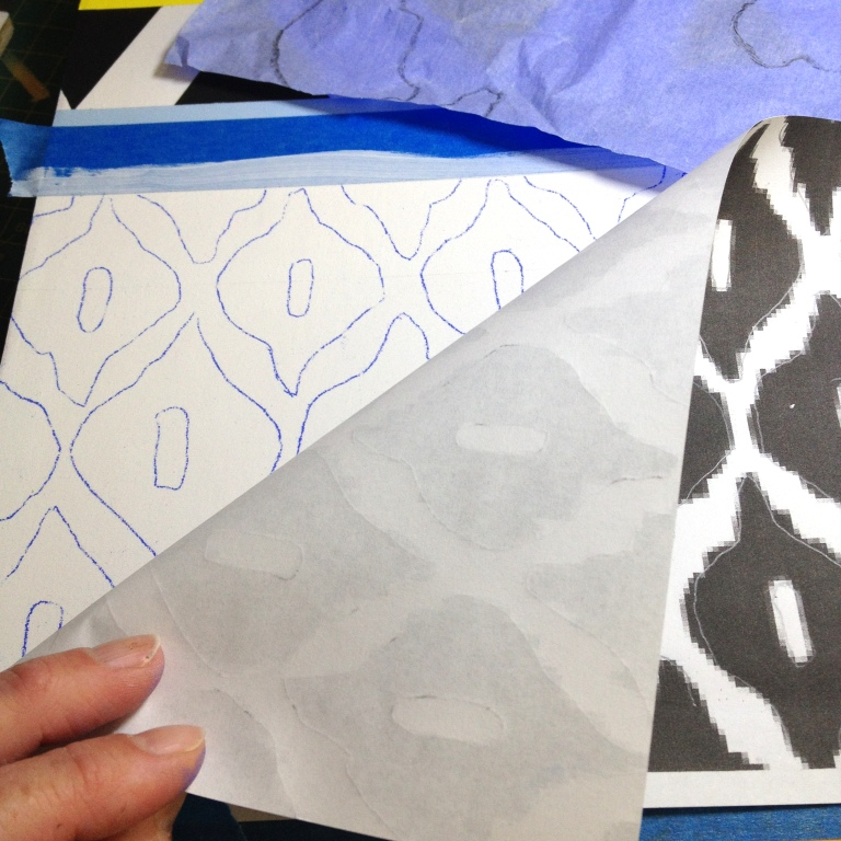 Transferring pattern with  Saral paper .