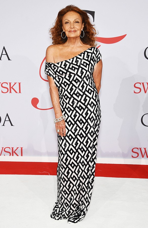 The one, the only, Diane Von Furstenberg at CDFA June 2015  Sexy older babe. Like me except with confidence and a magnetic charisma.