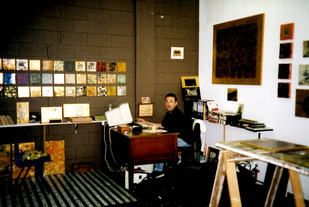 "Foveaux st Surry Hills studio The computer wasn't plugged in but impressed everyone: ""oh, you have a computer!"" Ahh, 1998, them dayz"