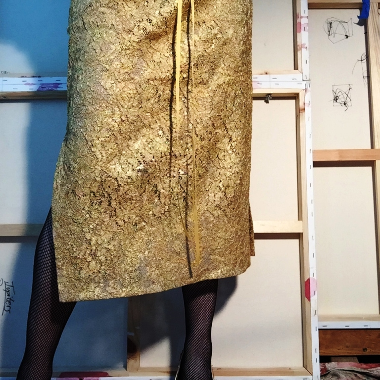 Gilded lace skirt - of dreams