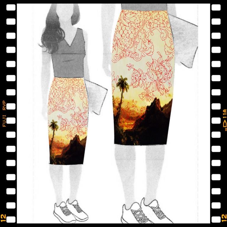 Palms - on Style Arc's Rita Skirt illustration