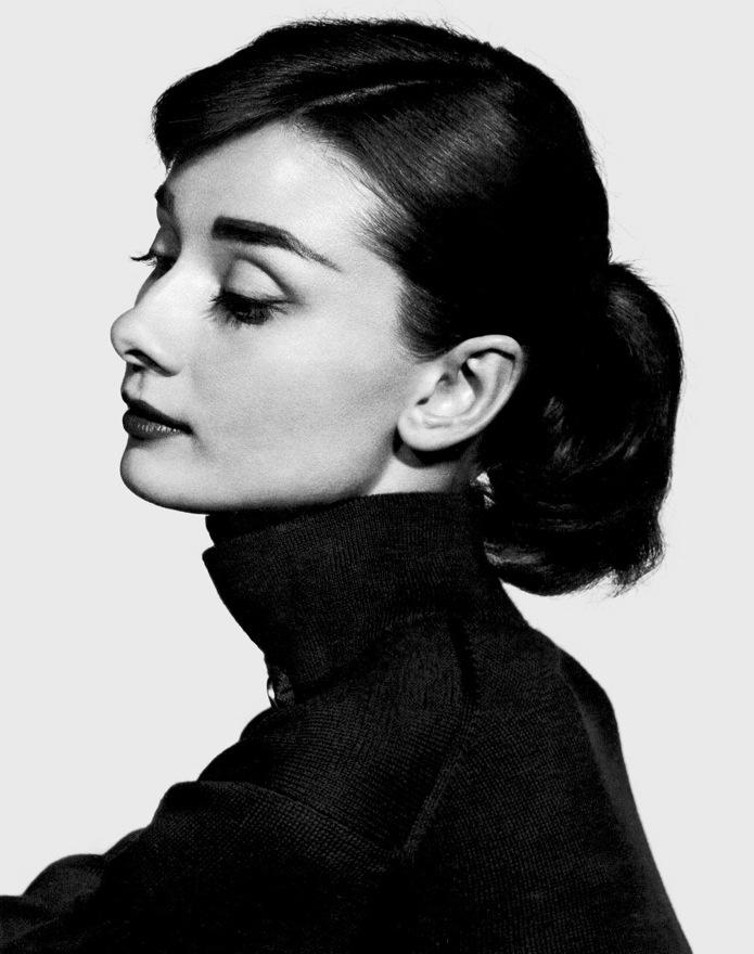 Compulsory - Hepburn shot when discussing polo necks