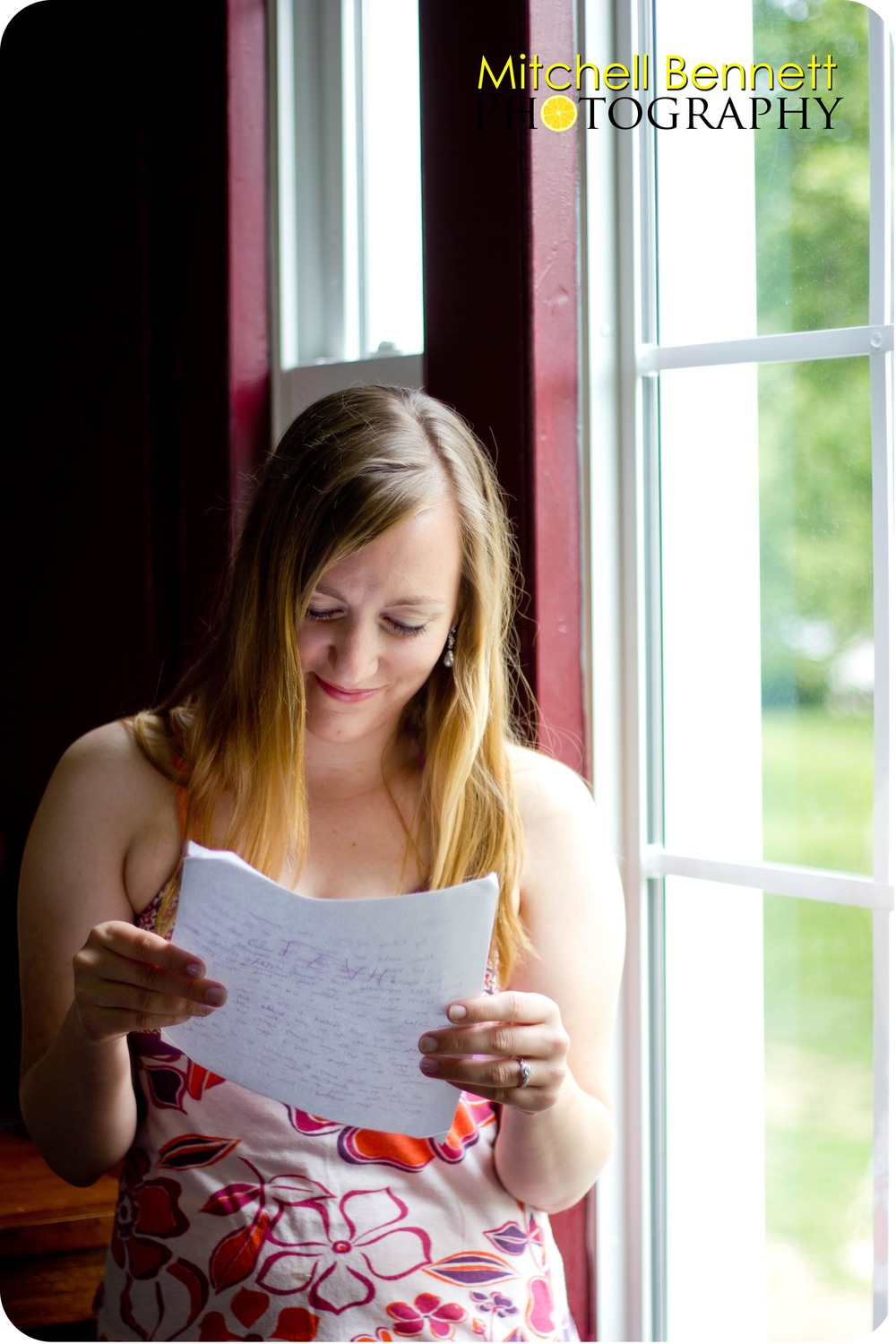 Before the ceremony, they each took the time to write and deliver a letter to one another.
