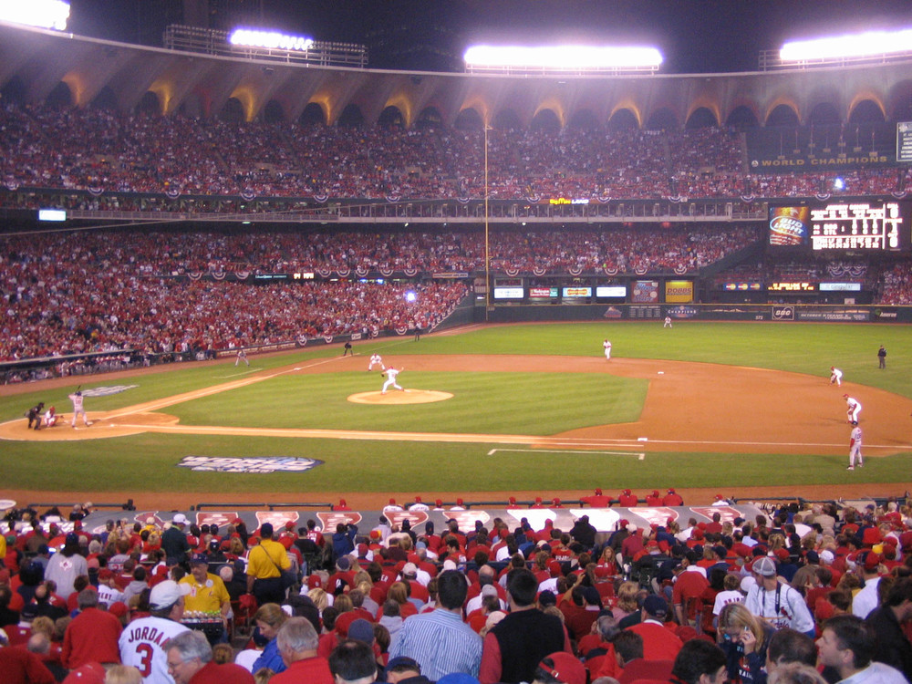 This is the first picture I could find taken with my A85. It's the first batter of Game 4 of the 2004 World Series. Johnny Damon is at the plate. He hit a home run in this at bat that later proved to be ther game winning run. Not a great night for us Cardinal fans.