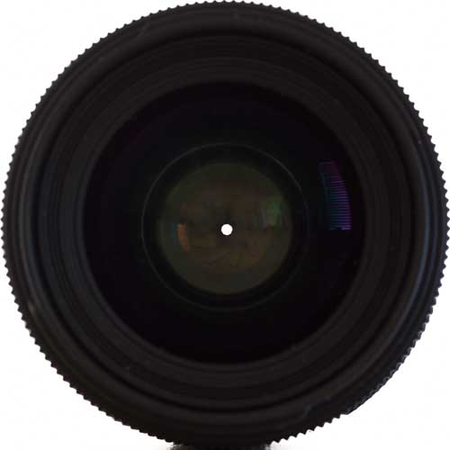 35mm lens set to a small aperture