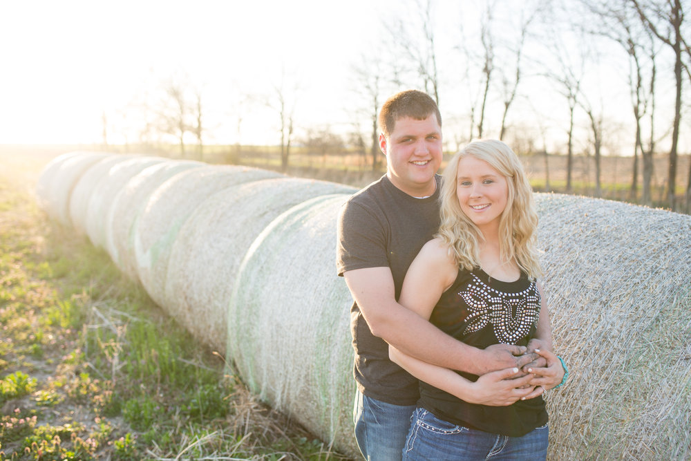 Lake Ozark Engagement Photo Hay Bales