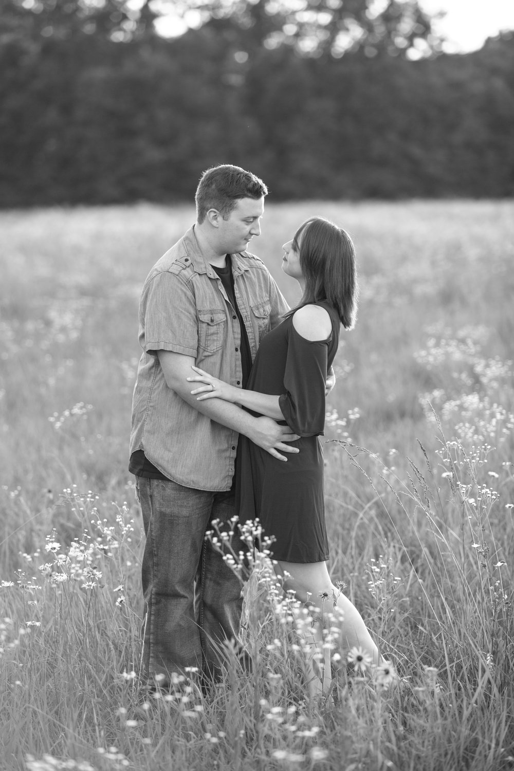 Wildflowers Engagement Photography Lake Ozark MO