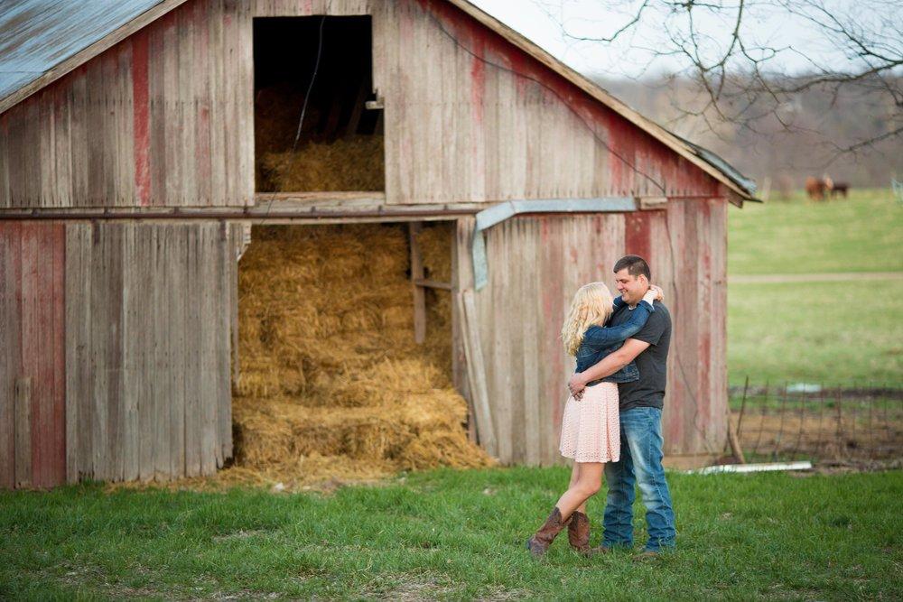 Old Barn Engagement Photo Lake Ozark