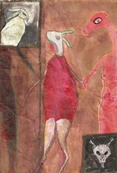 Rabbit's Journey , 2011, Mixed Media