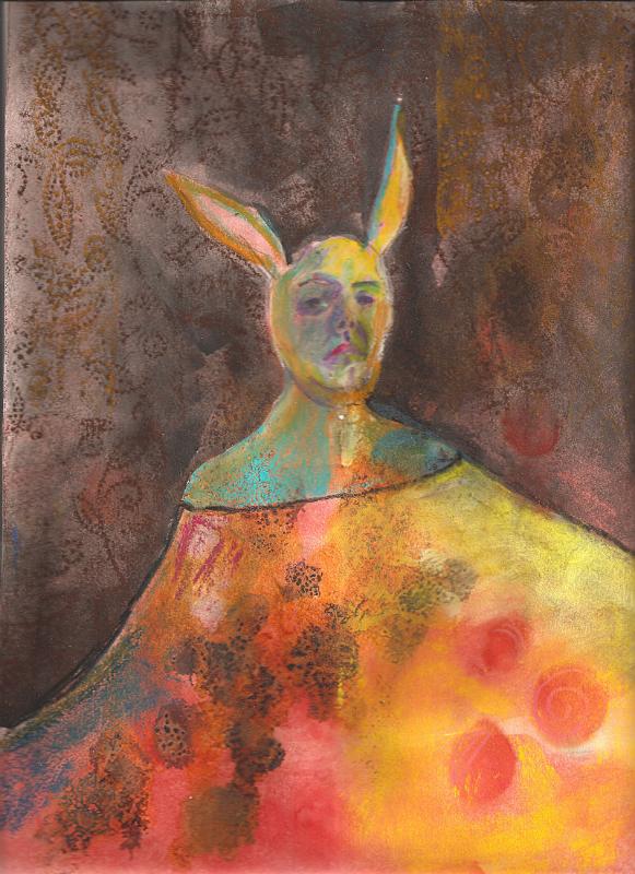 Rabbit Queen , 2010, Mixed Media